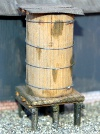 Timber water tank on base