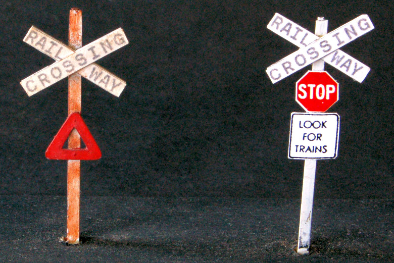 Crossing Sign Post